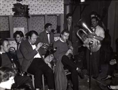 Phot of Johnny Parker with Humph's band at 100 Club