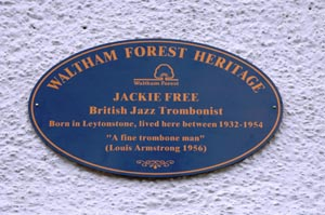 Jackie Free Blue Plaque